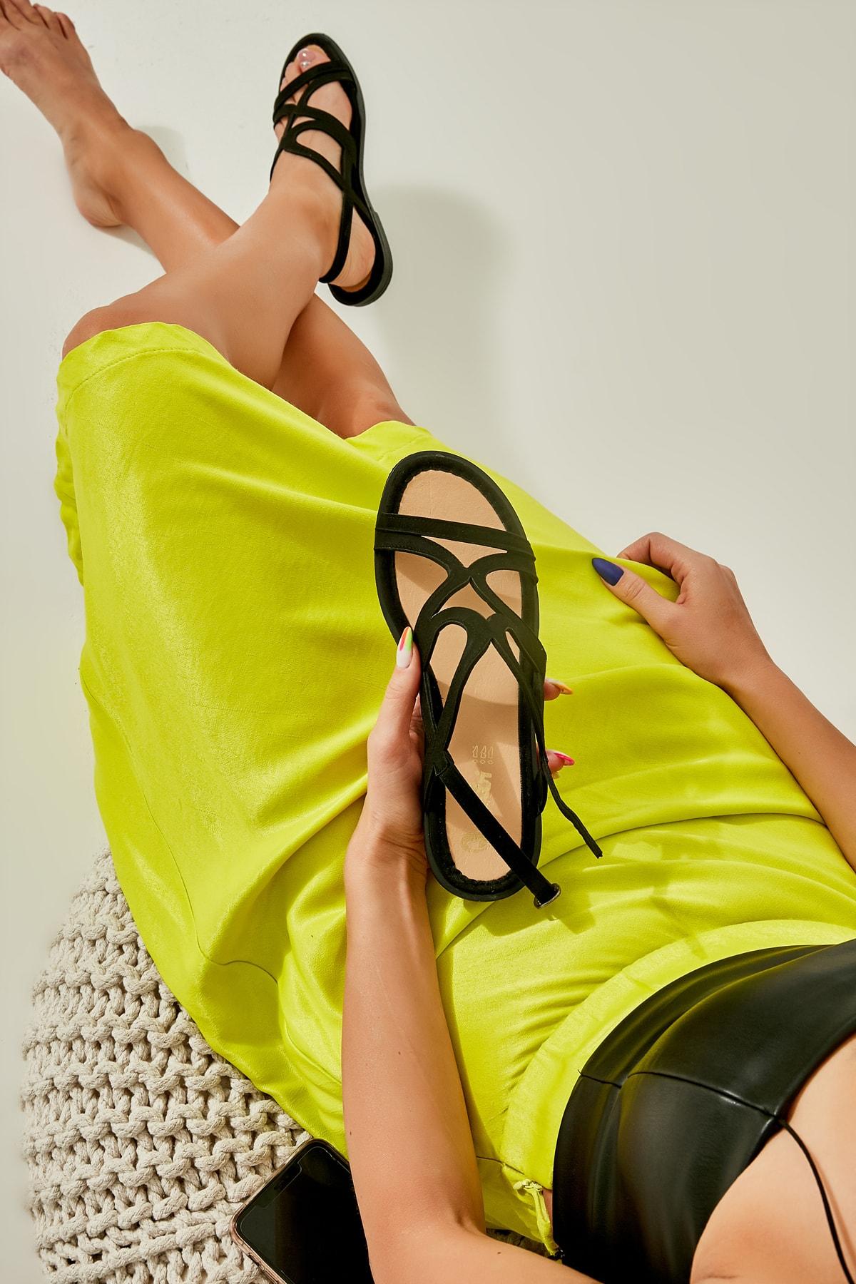Sıyah Kadın Sandalet L0652071465