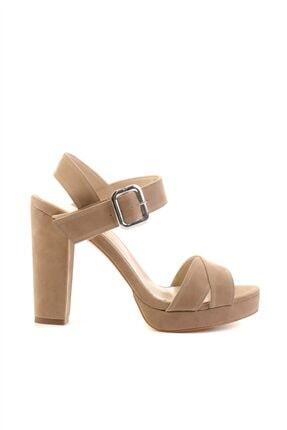 Bambi Krem Süet Kadın Klasik Topuklu Ayakkabı L0501407365 1