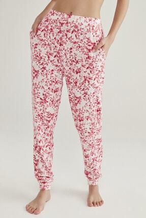 Penti Pembe Melanj Pink Flowers Pantolon 1