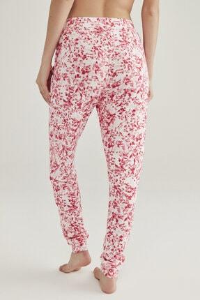 Penti Pembe Melanj Pink Flowers Pantolon 2