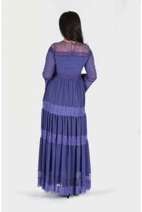 rapellin Dantel Detaylı Şifon Elbise 4