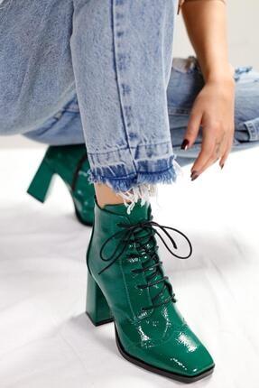 Limoya Margot Yeşil Kırışık Rugan Bootie 3