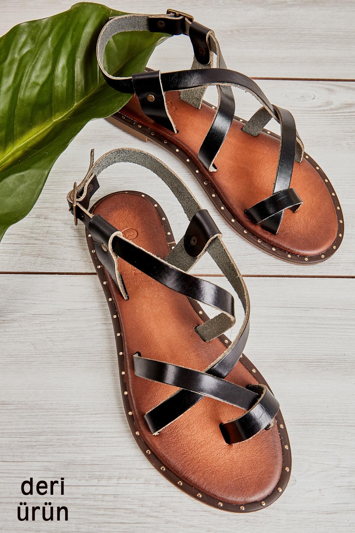 Sıyah Kadın Sandalet L0685262203