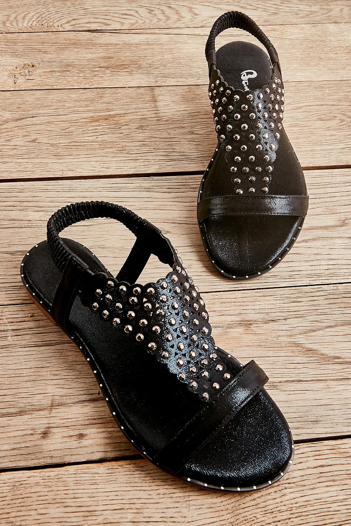 Siyah Kadın Sandalet L0512700678