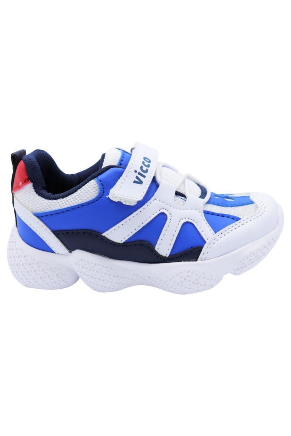 346.P19K.133 Beyaz Erkek Çocuk Koşu Ayakkabısı 100578800