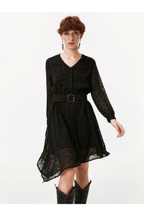 Twist Puantiye Desen Gömlek Elbise 1