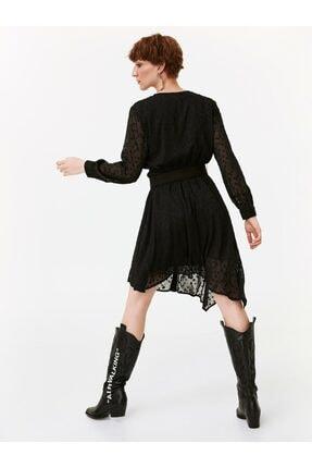 Twist Puantiye Desen Gömlek Elbise 4
