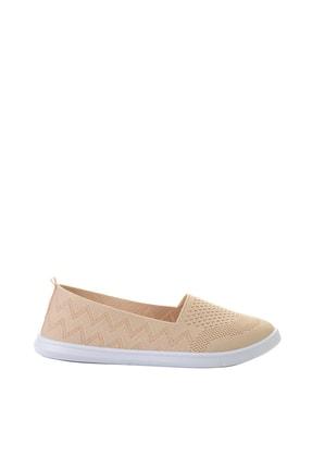 Bambi Bej Triko Kadın Sneaker L0543401082 1