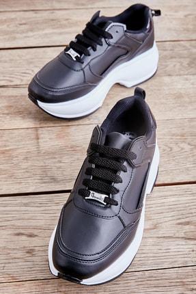 Bambi Siyah Kadın Sneaker L0547000509 0