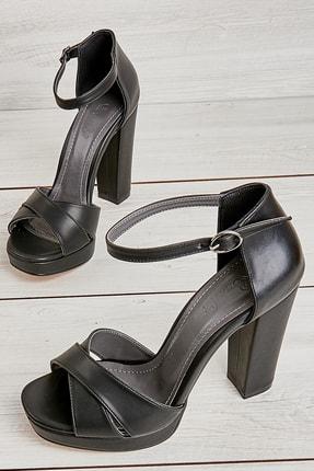 Bambi Siyah Kadın Abiye Ayakkabı L0674082409 0
