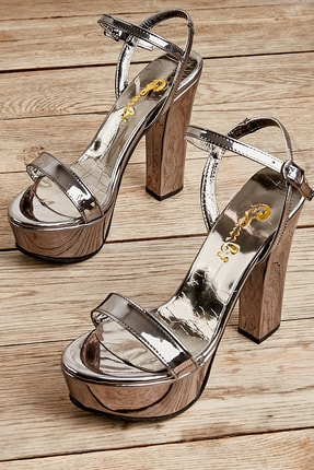 Bambi Kurşun Kadın Abiye Ayakkabı L0527052039 0