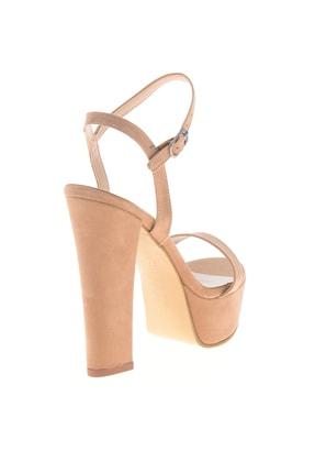 Bambi Bej Süet Kadın Abiye Ayakkabı L0527052072 3