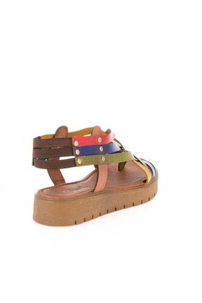 Bambi Hakiki Deri Çok Renkli Kadın Sandalet L0529030503 3