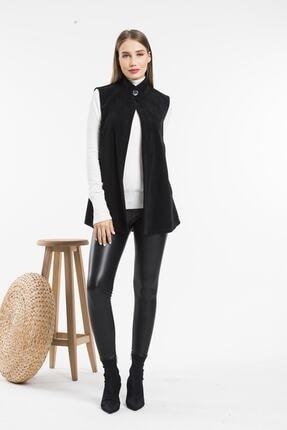 Balo Moda Kadın Siyah Softshell Yelek 1