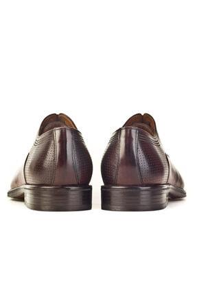 Cabani Oxford Kaymaz Esnek Kauçuk Tabanlı Bağcıklı Günlük Erkek Ayakkabı Kahve Antik Deri 3