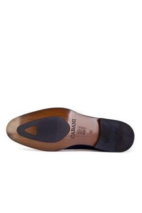 Cabani Oxford Bağcıklı Lazer Detaylı Neolit Enjeksiyonlu Erkek Ayakkabı Siyah Antik Deri 2