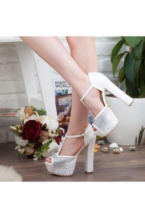 Adım Adım Sedef Platform Topuk Dolgu Taban Abiye Gelin Kadın Ayakkabı • A192ysml0024 2