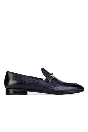 Cabani Toka Aksesuarlı Geyik Derisi Kaymaz Taban Loafer - Erkek Ayakkabı Siyah 1