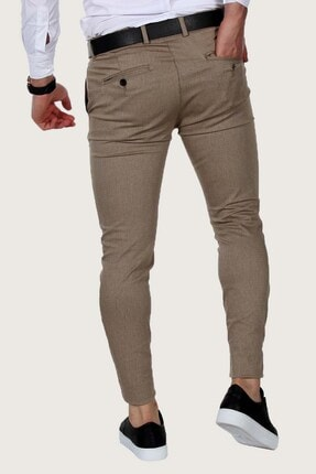Terapi Men Erkek Keten Pantolon Likralı 7y-2200068-061 Bal Rengi 2
