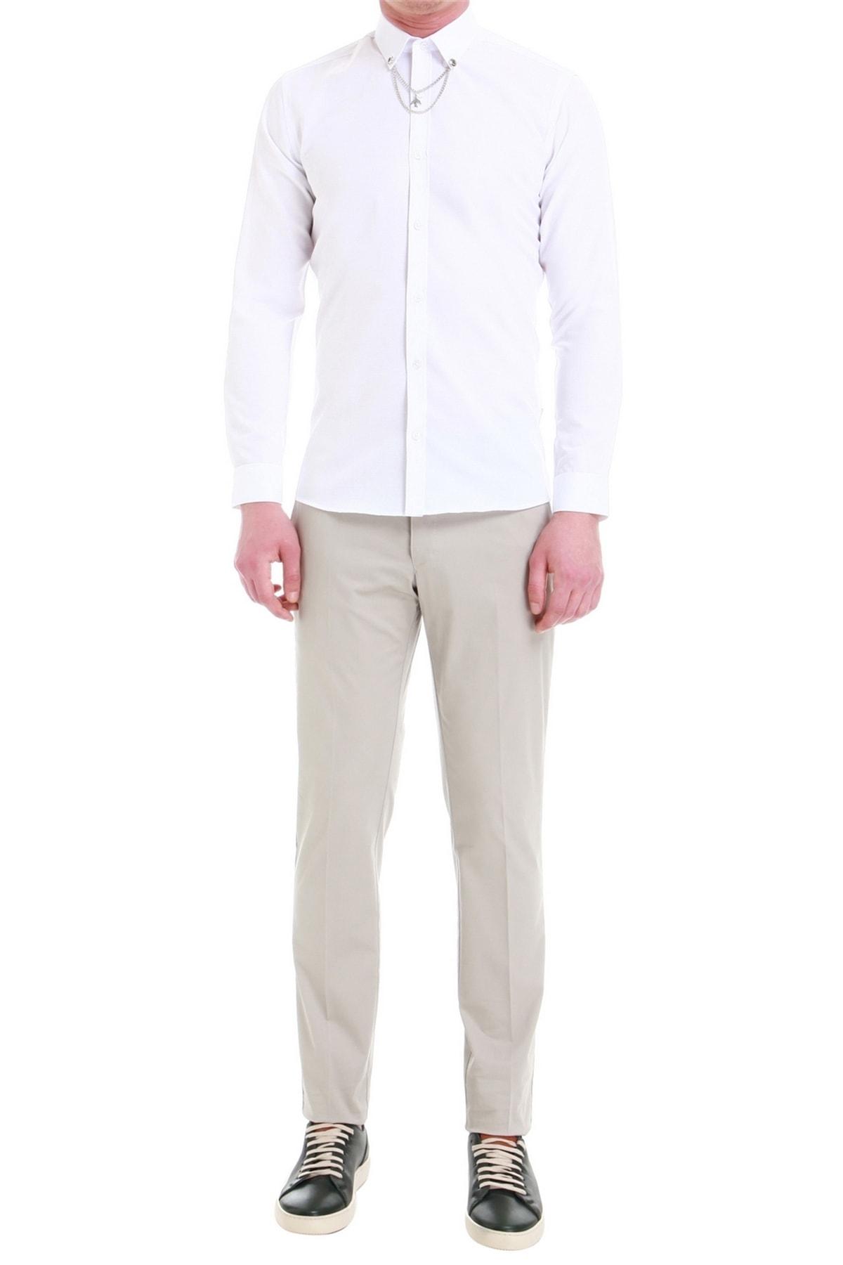 P 1058 Slim Fit Stone Spor Pantolon
