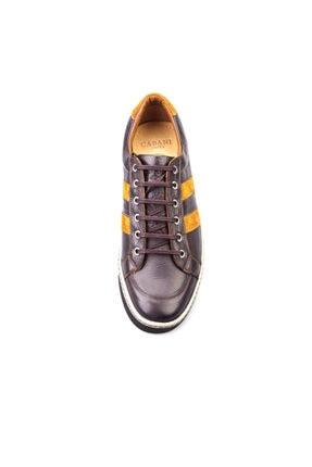 Cabani Bağcıklı Günlük Erkek Ayakkabı Kahve Floter Deri 4