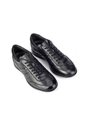 Cabani Bağcıklı Günlük Erkek Ayakkabı Siyah Naturel Floter Deri 4