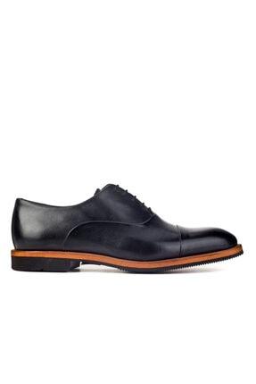 Cabani Oxford Hafif Light Tabanlı Bağcıklı Klasik Erkek Ayakkabı Siyah Antik Deri 1