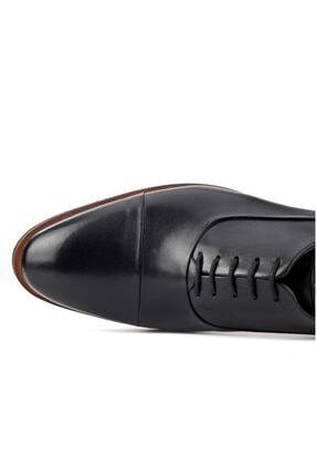 Cabani Oxford Hafif Light Tabanlı Bağcıklı Klasik Erkek Ayakkabı Siyah Antik Deri 2