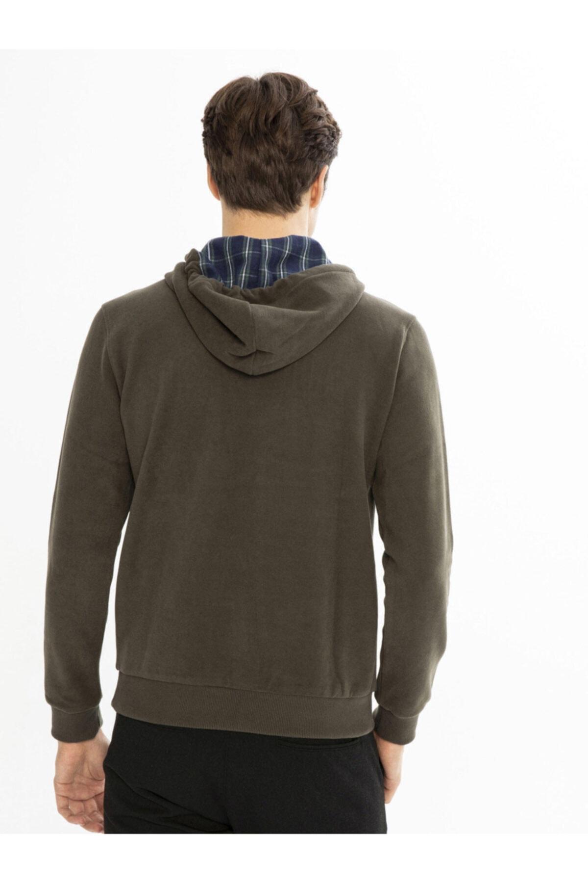 Mcl Giyim Kapüşonlu Baskılı Pamuklu Sweatshirt