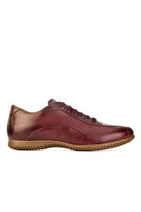 Cabani Bağcıklı Erkek Ayakkabı Kahve Floter Deri 1