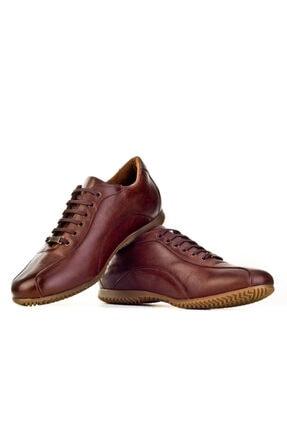 Cabani Bağcıklı Erkek Ayakkabı Kahve Floter Deri 4