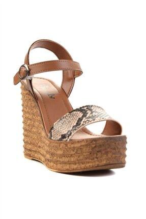 Bambi Bej Kadın Dolgu Topuklu Ayakkabı L0522210007 2