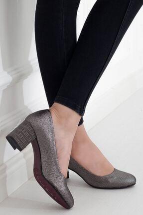 Mammamia Platin Topuklu Kadın Stiletto Ayakkabı • A202ydyl0061 1