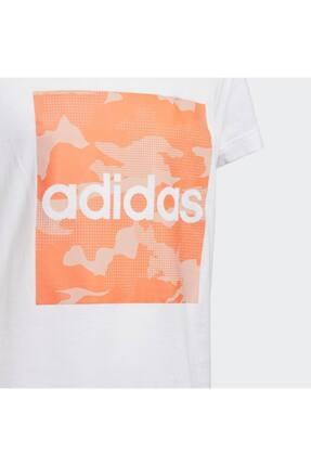 adidas Fm0824-c Yg Camo Tee Çocuk T-shirt Beyaz 2