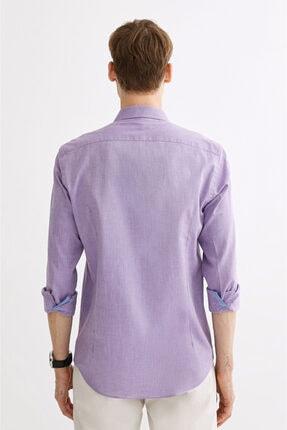 Avva Erkek Mor Düz Klasik Yaka Slim Fit Gömlek A01y2120 2