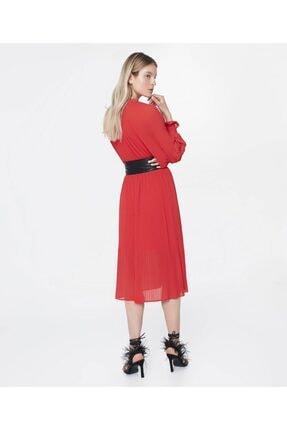 İpekyol Kemerli Pilisole Elbise 3