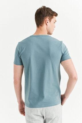 Avva Erkek Nil Yeşili Bisiklet Yaka Baskılı T-shirt A01y1084 4