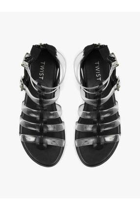 Twist Şeffaf Bantlı Sandalet 2