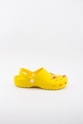Akınalbella Kadın Sarı Karpuz Figürlü Yazlık Terlik 0