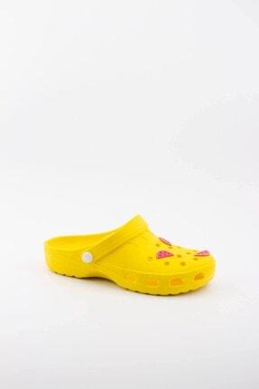 Akınalbella Kadın Sarı Karpuz Figürlü Yazlık Terlik 1
