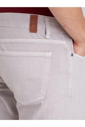 Dufy Gri Düz Likralı 5cep Erkek Pantolon - Regular Fit 1