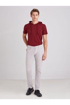 Dufy Gri Düz Likralı 5cep Erkek Pantolon - Regular Fit 2