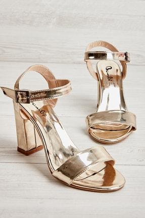 Bambi Altın Kadın Klasik Topuklu Ayakkabı K05503740039 0