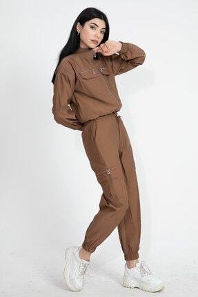 VAPUR TEKSTİL Paraşüt Kumaş Kargo Cep Kadın Eşofman Takımı 1
