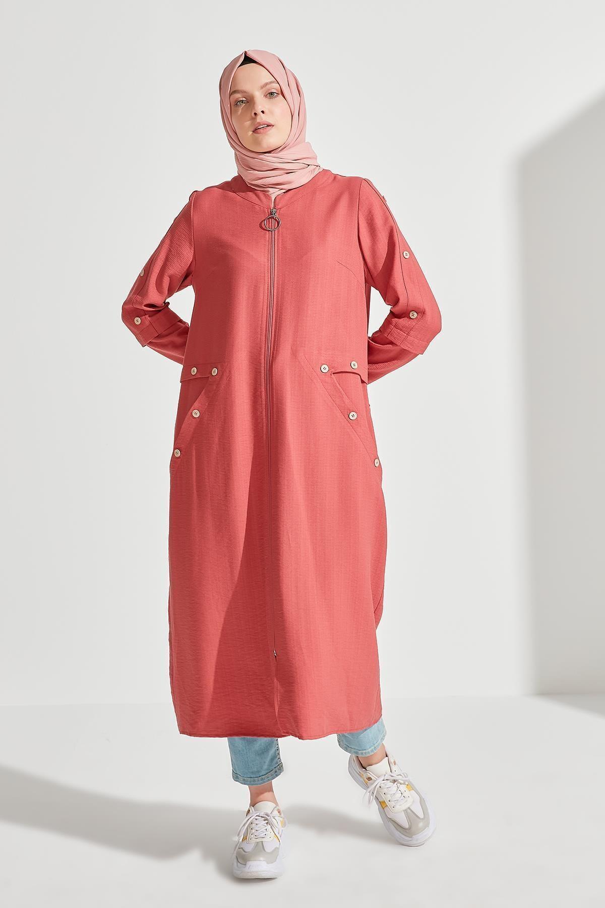 Sitare Düğmeli Fermuarlı Giy Çık 20ygy20y392