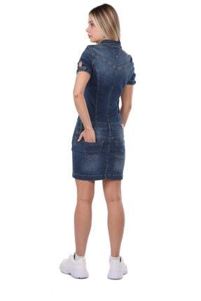 Bluewhite Blue White Kadın Jean Elbise 2