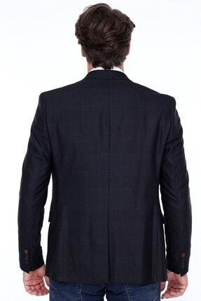 Zen Zen Zenzen Siyah Kareli Erkek Blazer Ceket Slım Fıt 4