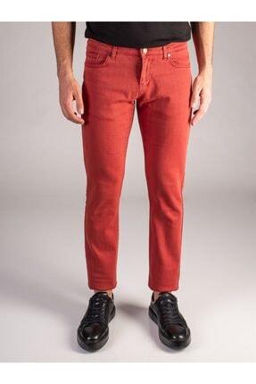 Dufy Nar Çiçeği Düz Likralı 5cep Erkek Pantolon - Regular Fit 0