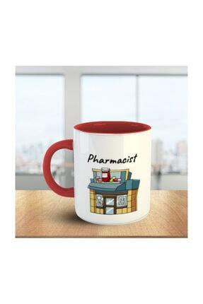 MOSELLE Pharmacist (Eczacı) No:1 Kırmızı Beyaz Meslek Kupa 0