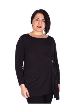 Günay Kadın Bluz Ccarko Mevsimlik O Yaka Sandy Toka Detay-sıyah 2